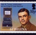 Alan Turing diabadikan dalam perangko
