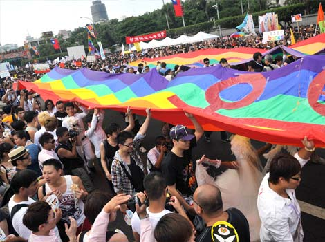Puluhan Ribu Orang Desak Legalisasi Pernikahan Gay di Taiwan (photo : AFP Photo/Mandy Cheng)