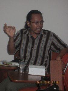 Salah satu peserta diskusi (Foto: Hartoyo)