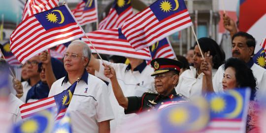 Hari kemerdekaan Malaysia. REUTERS/Bazuki Muhammad
