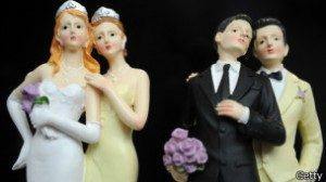 Di AS, 12 negara bagian mengakui perkawinan sesama jenis.