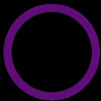 Lingkaran unggu merupakan simbol gender netral