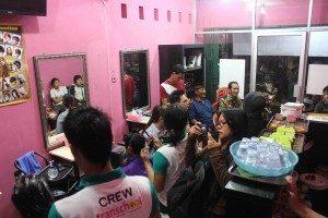 Media turut meliput kegiatan pembukaan Salon (Foto : Rikky MF)