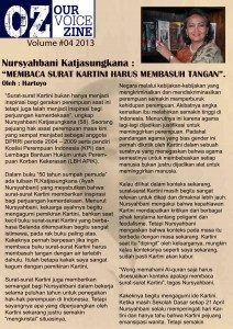Zine Ourvoice edisi 4 2013