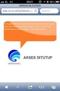 Screen capture website Our Voice melalui telpon gengam