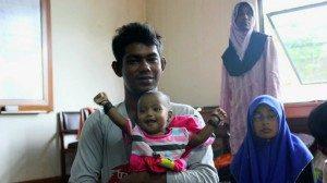Sebagian pengungsi Rohingya yang ditampung di YLBHI, Jakarta.