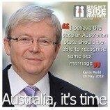Jelang Pemilu, PM Kevin Rudd Andalkan Isu Pernikahan Sejenis