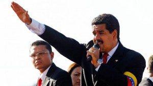 Nicholas Maduro saat melakukan pidato. Foto: the guardian