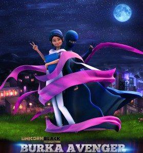 Ilustrasi : Poster Film animsi Burka Avenger