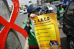 Kampanye pencegahan HIV dan AIDS.| Warta Kota/Ichwan Chasani