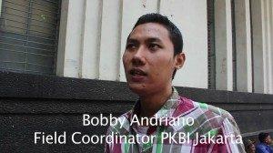 Bobby Andriano, ketua Positive Hope dan Field Coordinator PKBI Jakarta