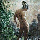 Ragam seni pria telanjang dipamerkan