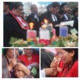 [Foto] Perayaan Natal 2013 Dibawah Hujan Depan Istana Negara
