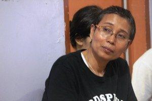 Agustine (Pembicara dalam diskusi.Foto.Dok.Suarakita/YatnaPelangi)