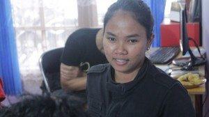 Ino, peserta dari Ardhanary Institute.foto,dok/SuaraKita/YatnaPelangi.