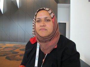 Nuraan Osman, aktivis HIV dan kekerasan terhadap perempuan di Afrika Selatan (Foto: Dina Indrasafitri)