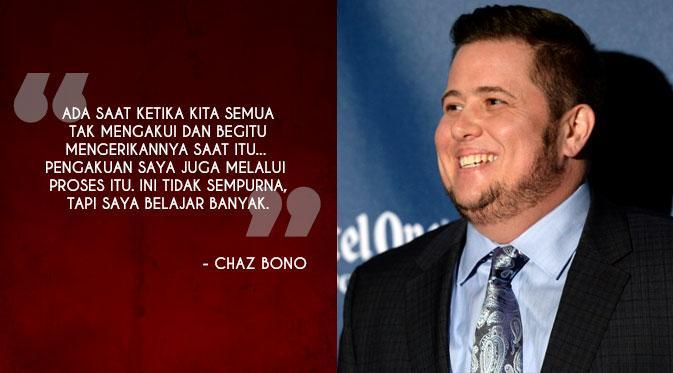 Chaz Bono Penulis dan musisi Chaz Bono adalah putra Sonny Bono dengan