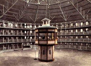 Sistem Panopticon Penjara (Sumber: http://alephjournal.files.wordpress.com/2012/03/panopticon.jpg)