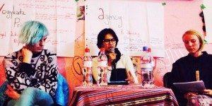 ola Amaria saat menjadi pembicara di Berlin (Foto: ist)