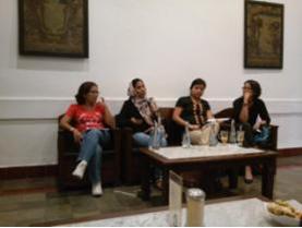 Moderator dan Para Narasumber Diskusi (Foyo: Fira/Suara Kita)