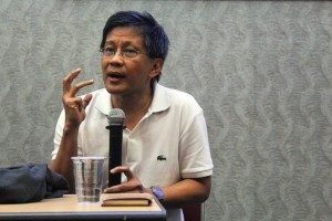 Rocky Gerung, S.S (Dosen Fakultas Ilmu Pengetahuan Budaya, Universitas Indonesia). Foto: YatnaPelangi/SuaraKita