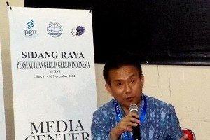 Sekretaris Umum Persekutuan Gereja-gereja di Indonesia (PGI), Gomar Gultom (Foto:satuharapan.com/Bayu Probo)