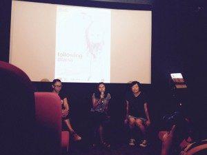 "Suasana diskusi film ""Sendiri Diana Sendiri"" (Foto : Eddy/Suara Kita)"