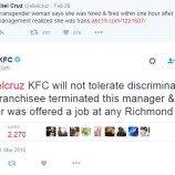 KFC Pecat Manajer Diskriminatif
