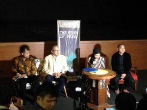 Okky Madasari (Kedua dari kanan) Konferensi Pers (Sumber : Twitter @tunggalp)