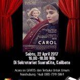 [Liputan]  Pemutaran Film Carol ;  Tak Sebatas Dua Perempuan Yang Saling Jatuh Cinta.