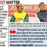 Pangeran Gay India Mendesain Modul Akademik LGBT Pertama di Asia Selatan