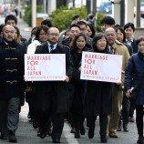 Pasangan Sejenis Menuntut Kesetaraan Pernikahan di Jepang pada Hari Valentine