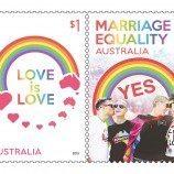 Pos Australia Luncurkan Prangko Bertema Kesetaraan Pernikahan