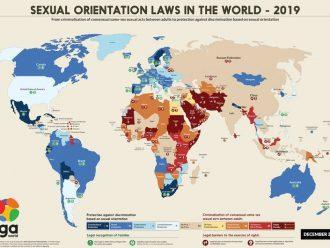 Peta Perlindungan LGBT di Seluruh Dunia Terbaru Tidak Sebaik Kenyataannya